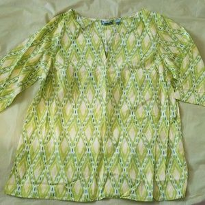 AVENUE blue and green cotton tunic top